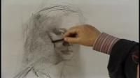 素描人头结构 素描头像正面 素描动漫人物画
