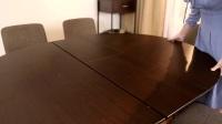 益可洛北欧实木可伸缩餐桌62009