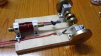 电磁活塞式V8单缸发动机