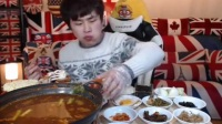 【韩国主播-花猪】海鲜汤+韩国小菜吃播20107052