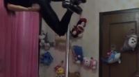 女主播空中钢管舞这舞技, 我服了, 韩国女主播也服了