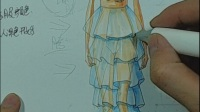 服装设计手绘服装设计手绘视频教程