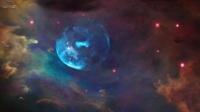 靠近气泡星云