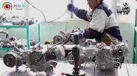 国内工厂生产组装踏板摩托车全过程