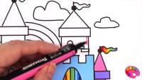 泡泡糖色书画胶球机,为有彩色标记的孩子画上颜色
