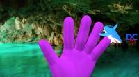 颜色恐龙与鲨鱼手指家族恐龙电影恐龙儿童童谣