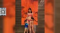 八卦:陈浩民娇妻比基尼秀身材 火辣性感美腿修长