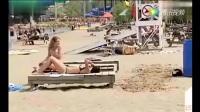 沙滩整蛊比基尼美女, 真会玩搞笑