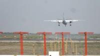 包頭二裡半機場〔BAV〕幸福航空航班降落