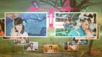 15张美女照片转圈形成姜字相册 峨眉山工棚