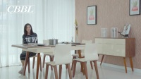 北欧现代实木电磁炉餐桌-5