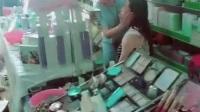 艾大家李时珍眼贴总代张姐铺货化妆品店体验现场