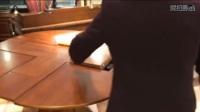 帝兰朵多功能旋转折叠实木餐桌
