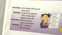 学生背诵英语课文和翻译展示