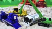 面包超人玩具托米察施工车辆5是你的工作的工作?自卸车推土机挖掘机
