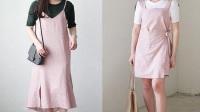夏季穿什么色彩的衣服好看?韩国美眉chic风格穿搭