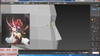3dmax建模之阴阳师女性角色身体头发模型制作