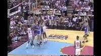 迈克尔-乔丹VS阿根廷美国1992年前的奥运会的游戏大绩效 篮球转身过人技巧