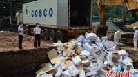重庆检验检疫部门销毁27吨丹麦进口腐败冻猪头(图)