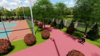 西安市未央区人民检察院景观设计方案-运动漫游