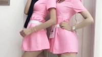 姐妹花迷你超短裙, 高挑身材, 选右边还是左边!