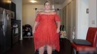 几百斤的体重穿起连衣裙还这么好看, 还是丰腴女生最吸引人瞩目!