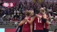 7月15日世界女排大奖赛澳门站美国VS意大利
