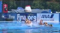【刘晓荷解说】2017布达佩斯世锦赛花样游泳女子集体技术自选决赛 20170718
