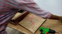 喜欢木工, 不一定非要买设备, 学学牛人如何自制木工钻床!