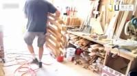 看如何使废木再生椅子