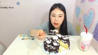 韩国女主播弗朗西斯卡吃蛋糕 吃播美食生活