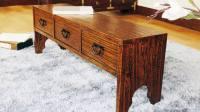 075杉桐实木桌榻榻米桌电脑桌笔记本桌子