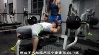 小县城老铁馆的两位老哥训练胸肌和肱三头肌-摇头岭车神健美训练教学20170721