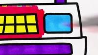 如何画出商店,现金,购物篮,水果,甜甜圈,粉红小猪妹,我是购物狂