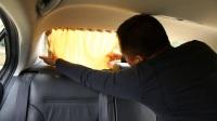 尾窗安装汽车窗帘安装