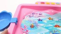 为孩子们学习颜色和计数,为孩子们打渔游戏的玩具学习视频