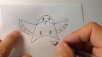 手绘卡通简笔画教程.小燕子风筝