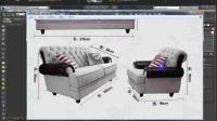 3dmax入门到精通之美式家具建模教程, 布艺沙发靠背骨架结构制作