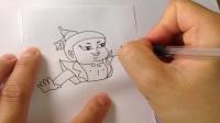 手绘卡通简笔画.怎样画葫芦娃
