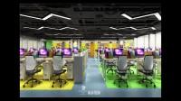 深圳装修-2100平米现代简约风格智联招聘办公室设计-尚泰装饰