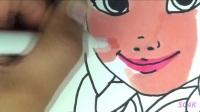 绘画出迪士尼冰雪奇缘公主安娜的美丽的图片