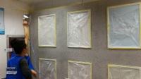 海龟梦硅藻泥施工-喷涂工艺肌理