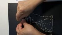 淘宝:苑DIY艺术体验馆【几何线条招财猫】制作视频 创意手工DIY纱线画/绕线画