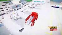 蜘蛛侠: 红色消防车高空跳海去游泳