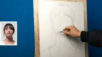 美芬素描人物速写入门_自学素描吧_素描卡通人物画杭州色彩教学视频
