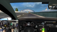ETS2 欧洲卡车模拟2 大众帕萨特小车 雨中狂飙 途经京港澳大桥、隧道  广州-澳门 中国地图 娱乐 T300RS