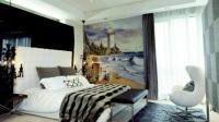 油画客厅卧室电视背景文化墙体家装彩绘装饰装修效果图粉刷匠彩绘