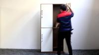 洛阳丰龙办公家具臻野系列四门更衣柜组装教程