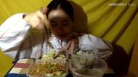 101爱吃饭的妹子 大馄饨+小馄饨+炒米线+牛肉蛋炒饭+杂粮煎饼早饭 中国吃播~_其他_生活