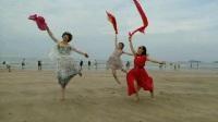 2016.6嵊泗游基湖沙滩蓝天白云大海沙滩--美女疯狂